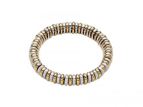 18K Two Tone Diamond Bracelet