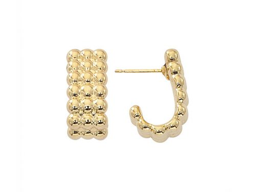 Image of yellow gold hoops