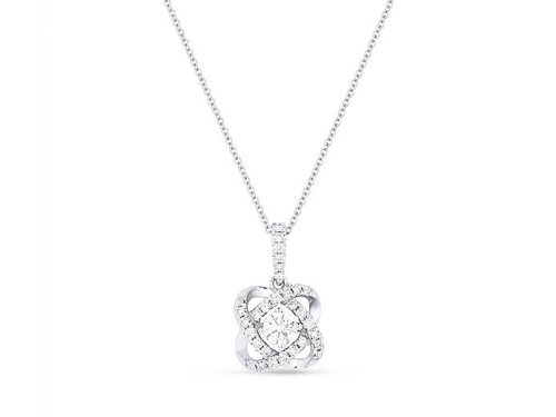 LaViano Jewelers 14K White Gold Diamond Pendant Necklace