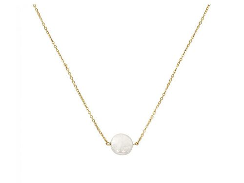 Image of 14K Yellow Gold Freshwater Pearl Necklace
