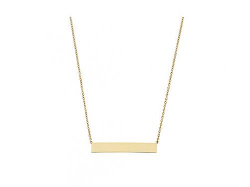 LaViano Jewelers 14K Yellow Gold Bar Necklace