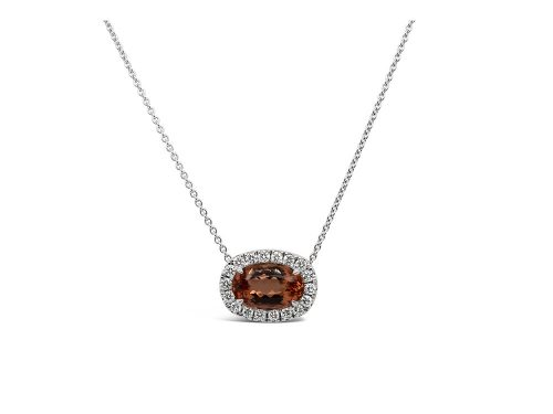 LaViano Jewelers 14K White Gold Imperial Topaz and Diamond Necklace