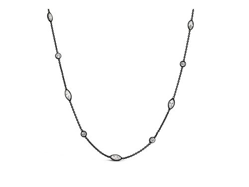 LaViano Jewelers 14K Black Rhodium Diamond-by-the-Yard Chain Necklace