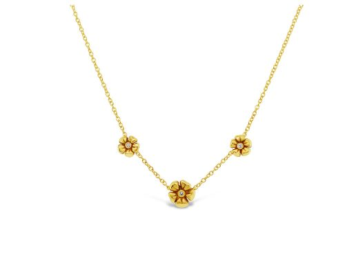 LaViano Jewelers 18K Yellow Gold Flower Necklace