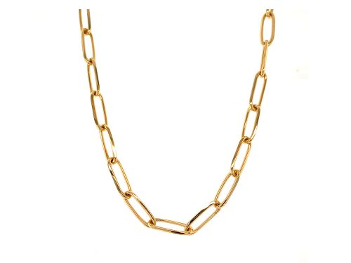 LaViano Jewelers 18K Yellow Gold Paperclip Necklace
